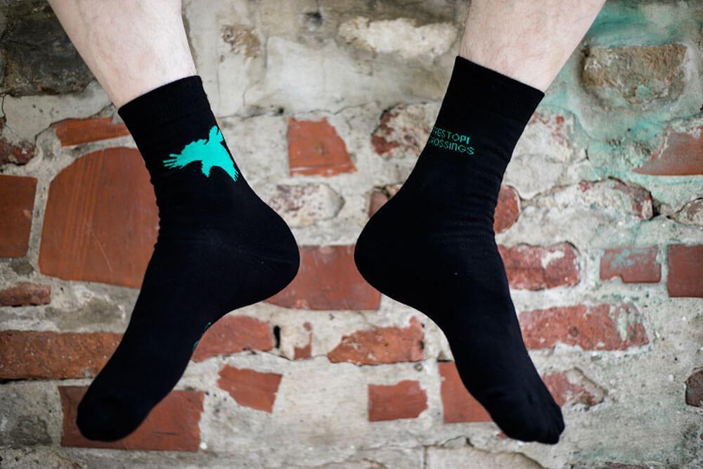 Nogavice - zelene // prestopi